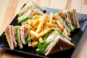 Dines Triple Decker Turkey Club House Sandwich